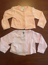 Carter's Baby Girl 12 Month Light Jacket Nwot Coral Pink Grey Buttons Longsleeve