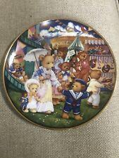 """""""Teddy Bear Fair� Franklin Mint HeirloomBy Carol Lawson Ja4390 Plate"""