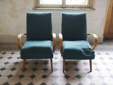 model 53 Lounge Chairs By Jaroslav Smidek For Ton Thonet