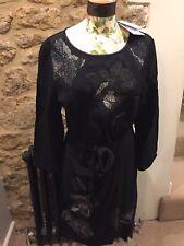 Beautiful NEW With Tags DVF Diane von Furstenberg Zoe Dress Black Size 16-18 UK