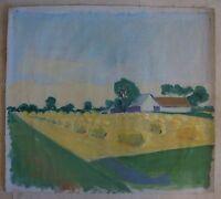 Unknown Expressionist - 1941 - Indistinctly Signed - Landscape Kornhocken