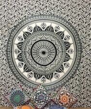 Black & White Omber Mandala Queen Size Tapestry Top Quality Fabric Cotton Art
