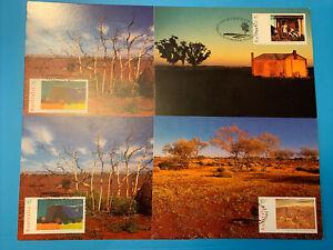 1995  -  AUSTRALIA DAY PAINTINGS (4) -  Maximum / Maxi Card Set   (loose set)
