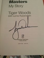 TIGER WOODS SIGNED THE 1997 MASTERS MY STORY BOOK GOLF PGA AUTOGRAPHED PROOF COA