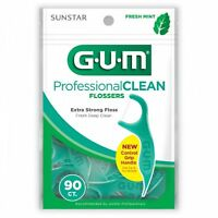 GUM EEZ-THRU MINT FLOSSERS (90/BAG)  - 24 Pack CASE