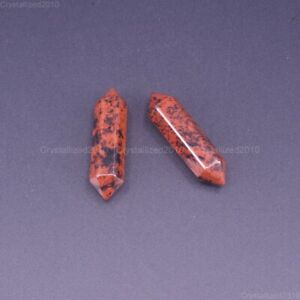 Natural Gemstone Hexagonal Pointed Reiki Chakra Raw Wand Pendant Beads Healing