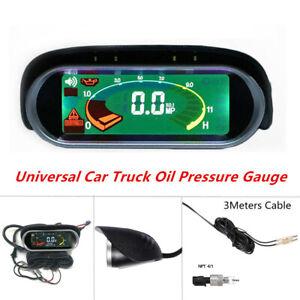 Universal Car Truck Engine Oil Pressure Gauge Meter Monitor Cable M14x1.5 Sensor