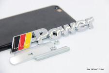 B178 Power De 3D Kühlergrill Emblem Badge car Sticker Metall Frontgrill PKW KFZ