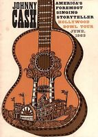 JOHNNY CASH 1963 TOUR HOLLYWOOD BOWL CONCERT PROGRAM BOOK BOOKLET / EX 2 NMT