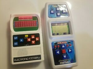 Coleco Head To Head & Mattel Electronic Football Handheld Games
