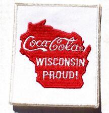 Vintage Rare Coca Cola Soda Pop Advertising Wisconsin Proud Patch