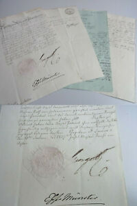 Certificate King Georg IV Bestallung 1827, Patent For Rat From Halem (Aurich)