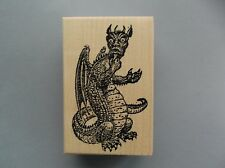 100 PROOF PRESS RUBBER STAMPS BIG UGLY DRAGON NEW wood STAMP
