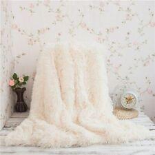 Soft Fuzzy Throw Blanket Plush Fur Big Large Warm Elegant Cozy Fluffy Shaggy