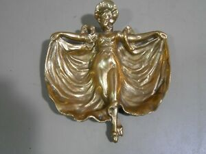 Showgirl Cast Metal Trinket / Candy Dish Unique Coffee Table Dish