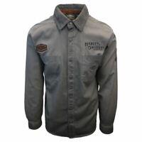 Harley-Davidson Men's Grey Iron Block L/S Woven Shirt