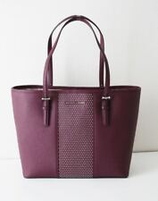 MICHAEL KORS TASCHE Shopper MICRO STUD SM CARRYALL BAG plum