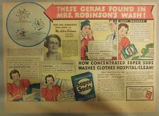 Super Suds Ad: These Germs Found In Mrs. Robinson's Wash  ! 1930's