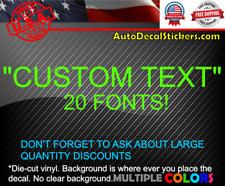 YOUR CUSTOM TEXT VINYL WINDOW DECAL STICKER CAR TRUCK LAPTOP TABLET #388