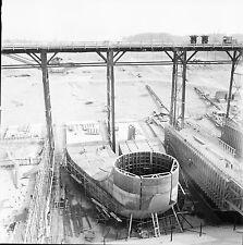 RHINAU c. 1960 - Chantier de la Centrale  Bas Rhin - Négatif 6 x 6 - N6 GE20