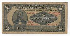 BRAZIL 2000 REIS 2 MIL 1921 PICK 16 LOOK SCANS