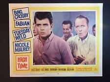"BING CROSBY 11"" x 14""  ""HIGH TIME""  1960 MOVIE THEATER LOBBY CARD"