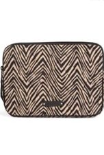 Vera Bradley E-Reader Sleeve Zebra Tan Black Fits iPad Mini Exact Item MSRP $28