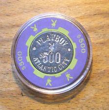 $500. PLAYBOY HOTEL CASINO CHIP - ATLANTIC CITY, New Jersey - Bud Jones - 1981