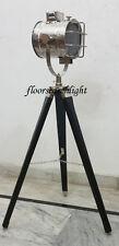 MODERN DESIGNER STUDIO TRIPOD FLOOR LAMP NAUTICAL SEARCHLIGHT SPOT LIGHT