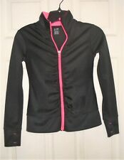 Champion Girl's Track Athletic Zip Jacket Duo Dry Size M 7-8 Black/Pink NEW