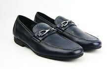 BRUNO MAGLI BLUE HANDMADE LOAFERS SHOES 100% LEATHER ITALY NEW SIZE 9 # 54