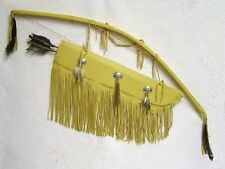 Native American Warrior's Bow with Quiver & Arrows