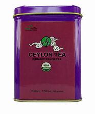Organic Ceylon Black Tea Loose  Leaf Tea 3 OZ TIN