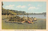 MIDLAND ONTARIO CANADA~LITTLE LAKE-LAKE FRONT POSTCARD