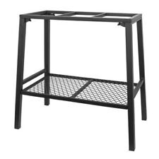 Aqua Steel Aquarium Stand Fish Tank With Accessory Shelf Black 10 to 20 Gallon