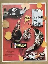 Albany State Tuskegee COLLEGE FOOTBALL PROGRAM - 1972 - EX