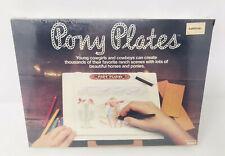 Vintage Tomy Pony Plates Toy Western Fashion Cowboy Horses Drawing