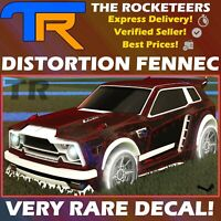 [PC] Rocket League Every Distortion [Fennec] Very Rare Decal Brand New