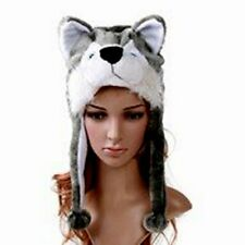 Husky Animal Plush Hat