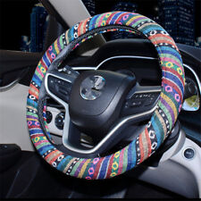 "38cm 15"" Automotive Boho Ethnic Flax Car Accessory Steering Wheel Cover Grip"