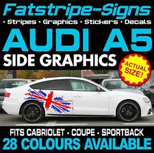 AUDI A5 GRAPHICS STRIPES STICKERS DECALS CAB COUPE SPORTBACK S5 RS5 S-LINE 2.0