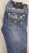 Miss Me Kids Girls Boot Cut Denim Jeans w Gem Sequin Flap Pkt 8 x 25 [J13170]