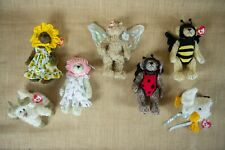 TY Attic Treasures RARE LOT of 6 Jointed Plush Babies Costumes Butterfly Bear