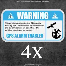 4x GPS -sticker security tracking vehicle label warning anti theft vinyl window