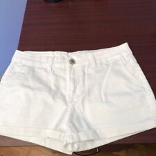 BUFFALO BY DAVID BITTON WOMEN'S PENELOPE WHITE STRETCH/MID RISE SHORTS SIZE 28