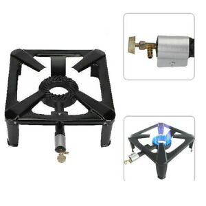 Large Lpg Gas Burner Cooker Cast Iron Boiling Ring Camping Catering Restaurant