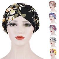 Muslim Women Braid Chemo Cap Printed Head Scarf Hijab Wrap Turban Hat Islamic