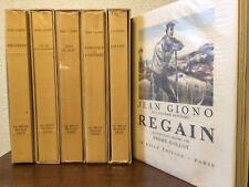 GIONO ŒUVRES ILLUSTRÉES. (six volumes) LA BELLE ÉDITION. BEL EXEMPLAIRE