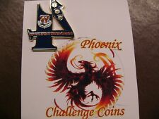 6th MDG 4 Aox1 big 4 shaped coin by Phoenix Challenge Coins
