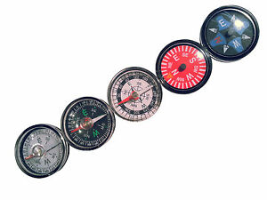 5 bunte Mini Kompass Compas Brujula Bussola Boussole 3cm